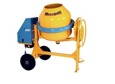 BETONEIRA PROFISSIONAL MENEGOTTI 250L -  equipamentos pneumáticos