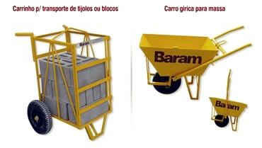 CARRINHO P/ TIJOLOS OU BLOCOS E GIRICA PARA MASSA -  alisadora de pisos