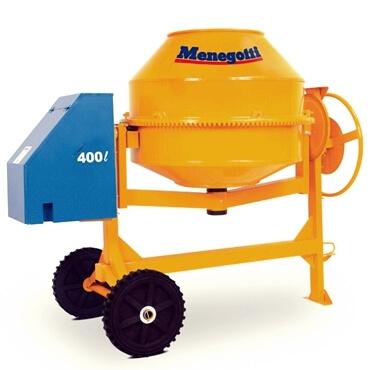 BETONEIRA PROFISSIONAL MENEGOTTI 400L -  equipamentos pneumáticos